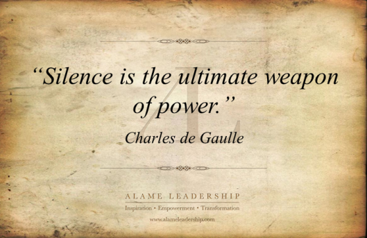 AL Inspiring Quote on Silence