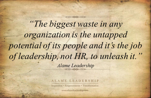 AL Inspiring Quote on Unleashing People's Power