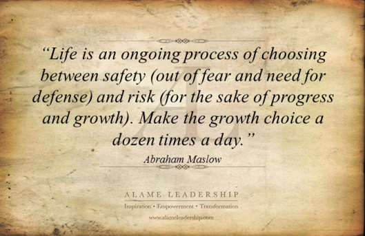 AL Inspiring Quote on Taking Risk and Growth