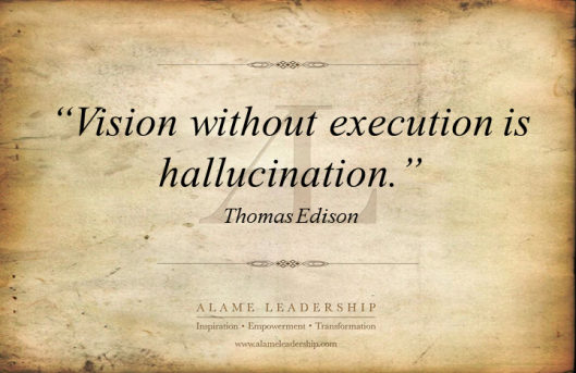 AL Inspiring Quote on Execution