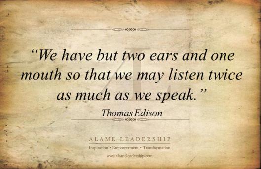 AL Inspiring Quote on Listening