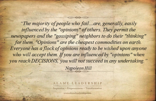 AL Inspiring Quote on Opinions 1