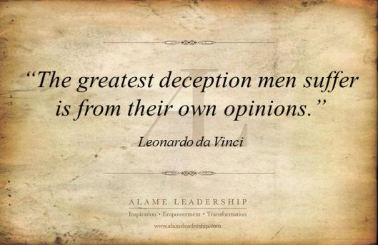 AL Inspiring Quote on Self Deception