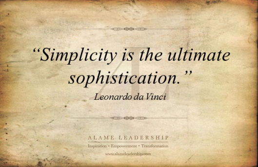 AL Inspiring Quote on Simplicity