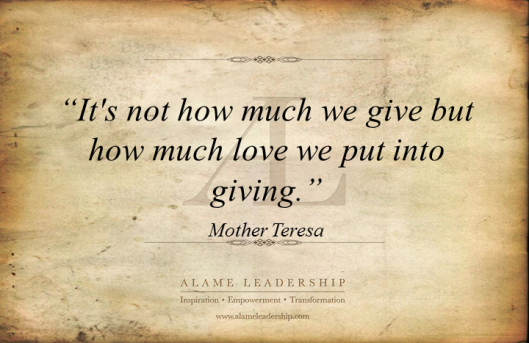 AL Inspiring Quote on True Giving