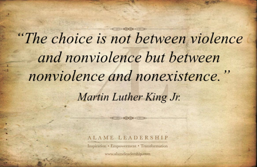 AL Inspiring Quote on Non Violence 3