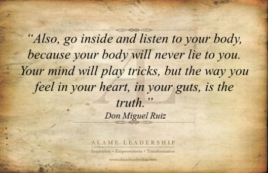 AL Inspiring Quote on Listening to Your Guts