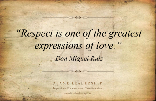 AL Inspiring Quote on Love and Respect