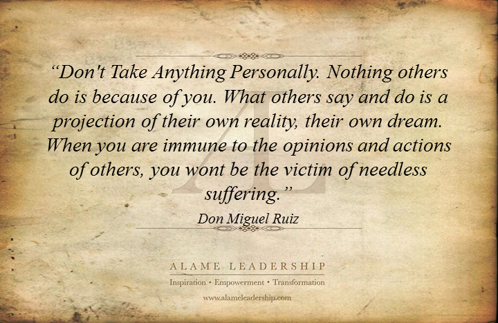 Quotes On Not Taking Things Personally