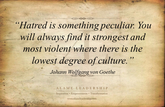 AL Inspiring Quote on Hatred