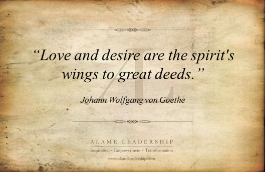 AL Inspiring Quote on Love and Desire