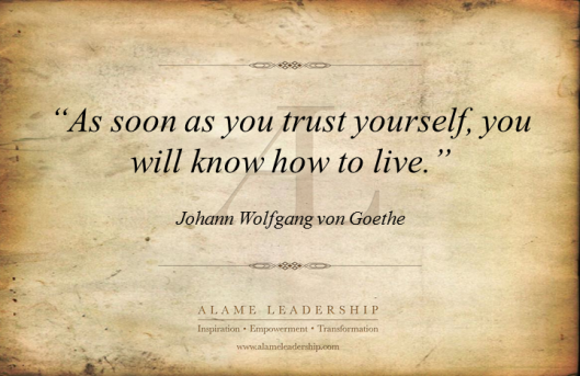 AL Inspiring Quote on Trusting Oneself