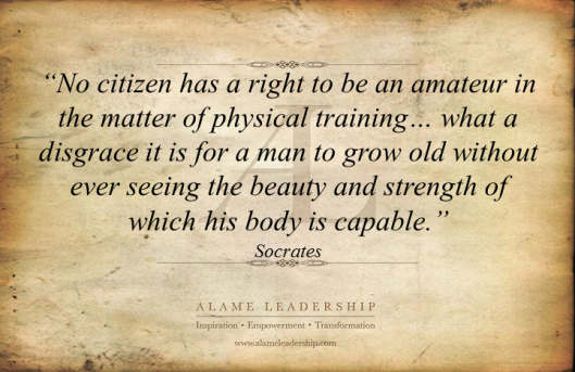 AL Inspiring Quote on Physical Training