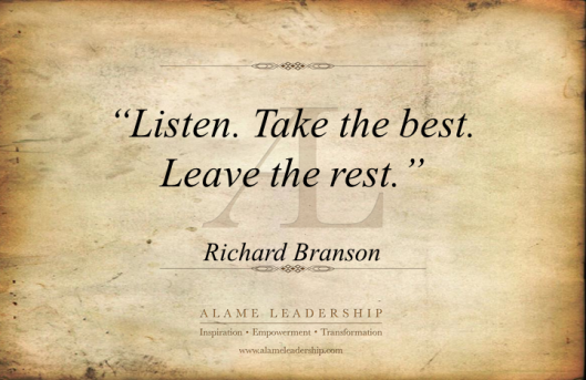 AL Inspiring Quote on Learning by Listening