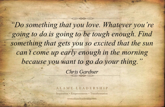 AL Inspiring Quote on Living Your Passion