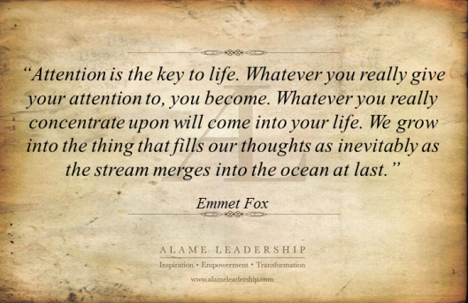 AL Inspiring Quote on Atention