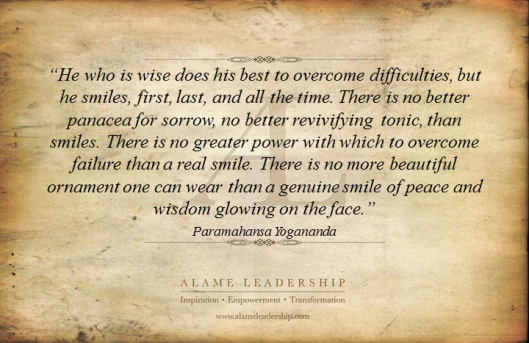 AL Inspiring Quote on Smile