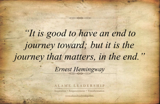 AL Inspiring Quote on The Journey