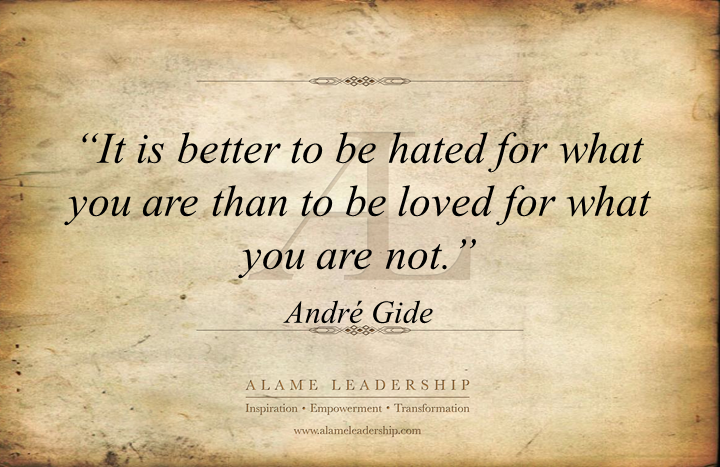 Authenticity Quotes Simple André Gide's Week AL Inspiring Quote On Authenticity Alame