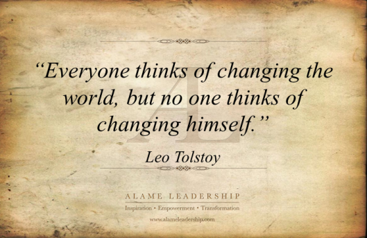AL Inspiring Quote on change