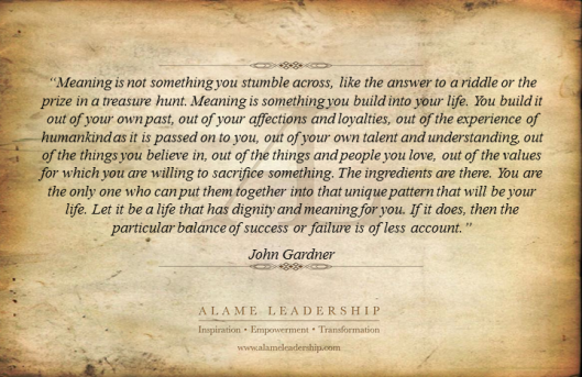 AL Inspiring Quote on Meaning and Purpose