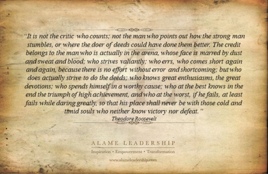 AL Inspiring Quote on Courage and Action