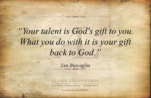 AL Inspiring Quote on Talent
