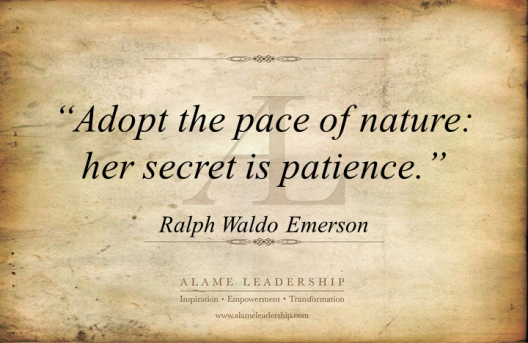 AL Inspiring Quote on Patience